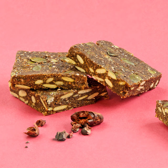 Pumpkin seed protein bars with chia
