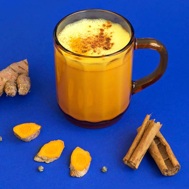 Warm Turmeric Cinnamon Milk